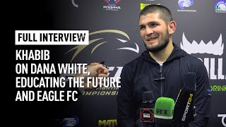 Khabib talks future of UFC lightweight division, EFC and education [FULL + ENGLISH SUBS]