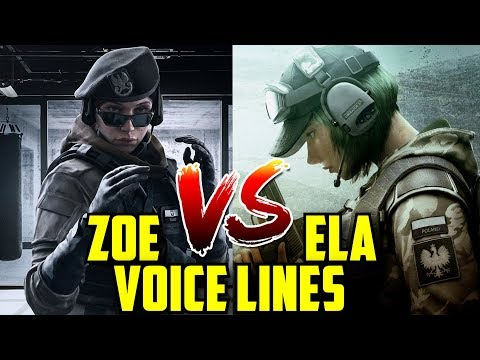 Rainbow Six Siege Zofia vs Ela Voice Lines dialog talking against each other.