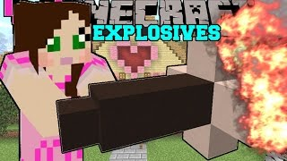 Minecraft: TNT & EXPLOSIVES! (TNT FOUNTAIN, MISSLES, NUKES, & MORE!) Custom Command