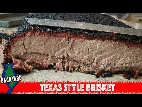Texas Style BBQ Beef Brisket on the Rec Tec Pellet Smoker