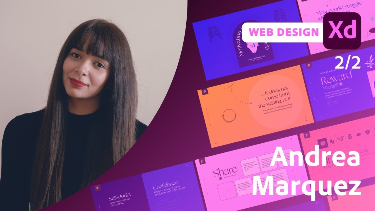 Designing an Interactive Guide for Web in Adobe XD with Andrea Marquez - 2 of 2