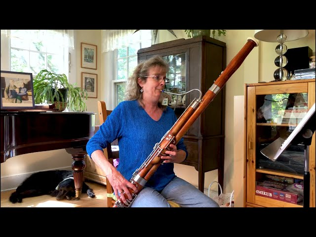 Maureen Strenge, bassoon, plays Bach Cello Suite No. 1, Courante - BACH: 6 WAYS