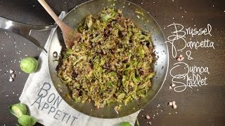 Healthy Brussel, Pancetta And Quinoa Skillet Recipe