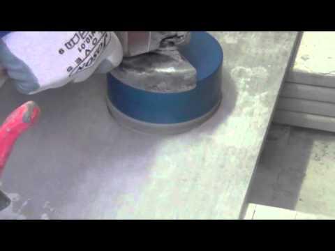 Foratura e taglio gres porcellanato sottile  IPERCERAMICA  Doovi