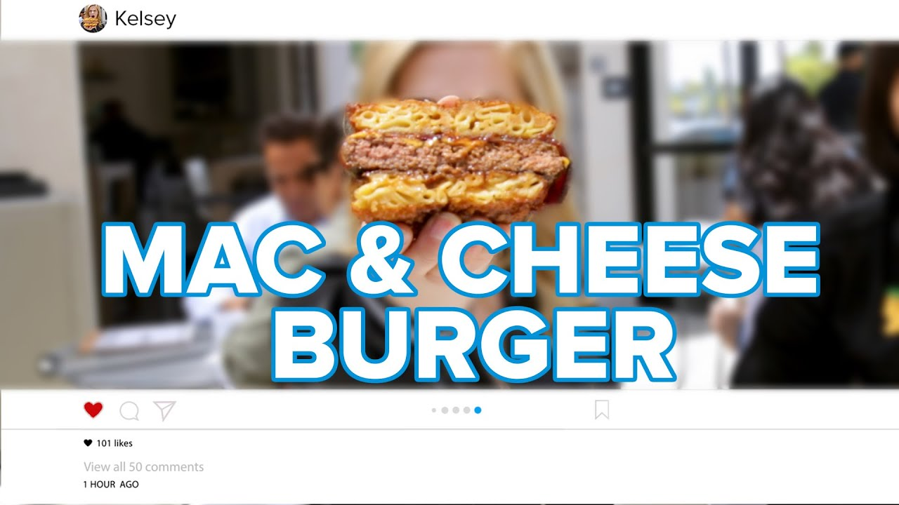 Famous Instagram Mac & Cheese Burger Tasty Edition