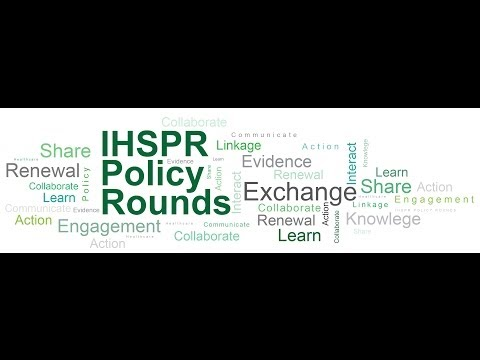 IHSPR Policy Rounds - Pharmacare in Canada (WEBINAR May 6, 2014)