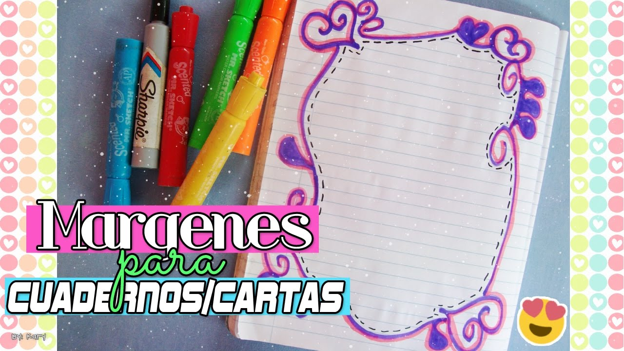 Margenes para cuadernos cartas ideas para decorar youtube - Como hacer un marco de fotos a mano ...