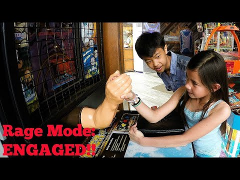 Kids Arm Wrestling Against Strong Mechanized Robots: Boy Vs Girl & Kids Vs Adults – RAGE Mode!