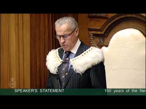 Speaker's Statement- 150 years of the New Zealand Hansard