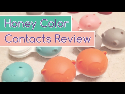 Honey Color Contacts Review - YouTube