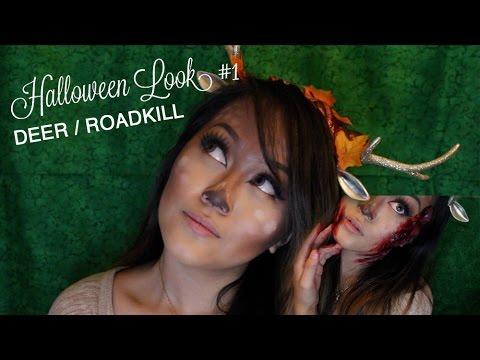 halloween deer diy antlers roadkill tutorial youtube