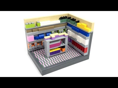 Lego Grocery Store Interior Moc Youtube