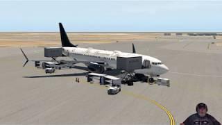 X-Plane 11.32r1 737-900 KSNA to KSAN 2/20/2019
