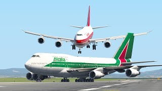 Two Giant Boeing 747 Almost Collide At The Runway