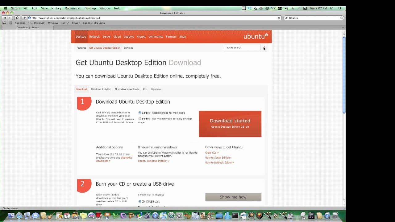 create ubuntu live cd on mac