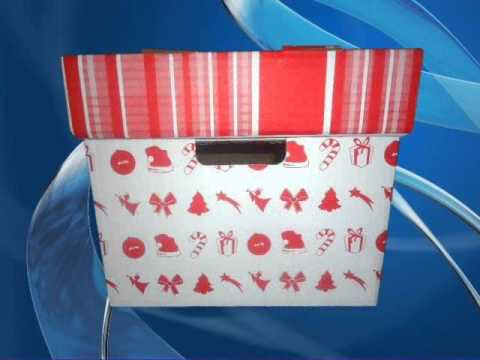cajas navide as de cart n youtube