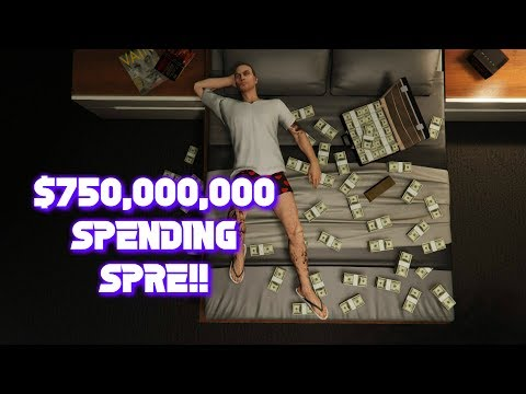 GTA 5 ONLINE $750,000,000 SPENDING SPREE BUYING EVERYTHING IN THE GAME