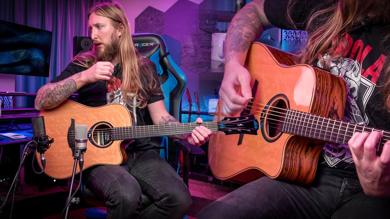 Ola Englund demoes the HyVibe Smart Guitar