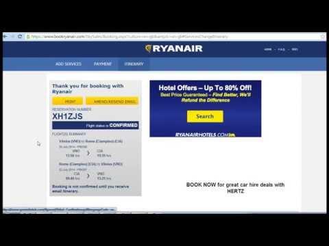 Как докупить багаж у Ryanair