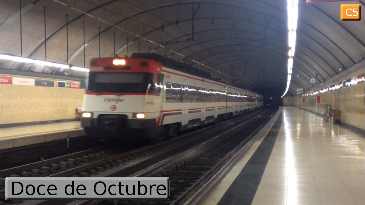 doce de octubre c5 cercan as madrid renfe 446 youtube