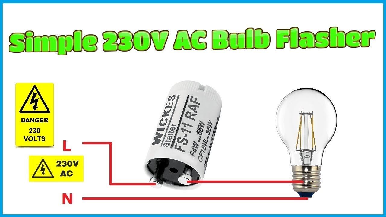 how to make simple 230v ac bulb flasher circuit [ 1280 x 720 Pixel ]