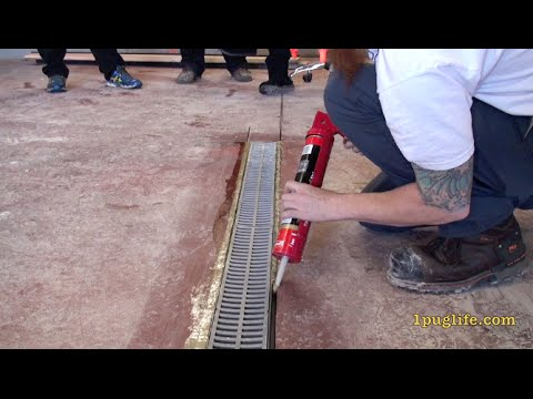 how to install a floor drain