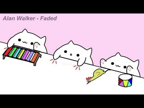 Bongo Cat plays 'Alan Walker - Faded' - Toy Chicken