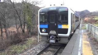 Rail transport in Japan 【JR東日本】大自然の中のハイブリットカーキハE200形気動車 小海線 佐久広瀬駅