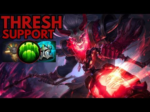 Blood Moon Thresh Support-League of Legends Full Gameplay