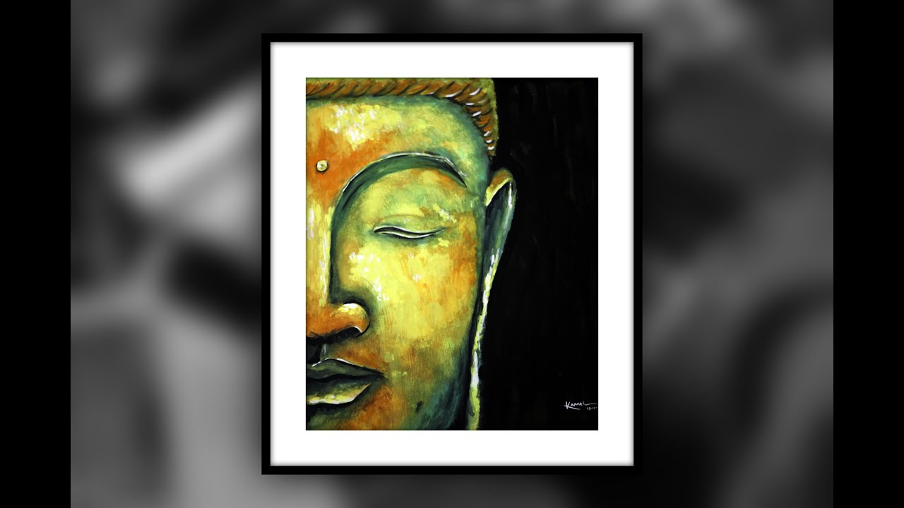 buddha poster colors on oil canvas youtube