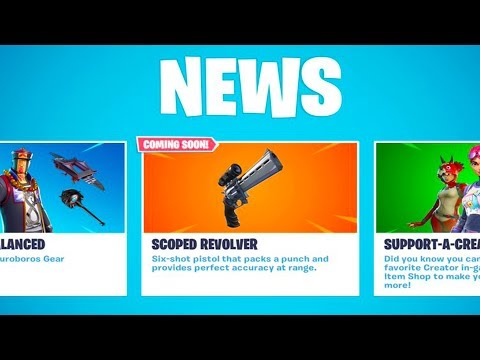 NEW Fortnite SCOPED REVOLVER Gameplay Update Soon! (Fortnite Battle Royale PC Gameplay) thumbnail