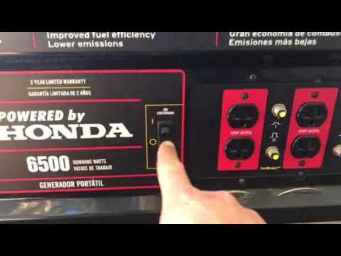 How to start the black max 8125/6500 Watt generator