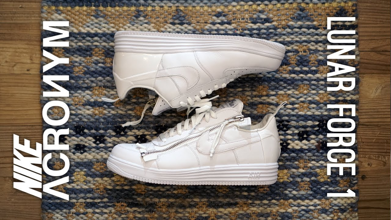 reputable site ad632 c17c6 Nike x Acronym Lunar Force 1 Overview