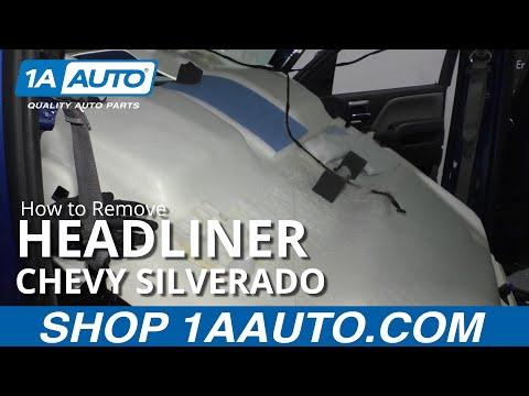 How to Remove Headliner 14-19 Chevy Silverado