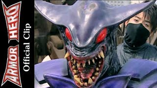 rhino man fights with the ray monster armor hero official english clip hd 公式 47