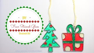 DIY Faux Stained Glass Ornament kit/ Adorno en imitacion de Vitral by Diorizella Events and Crafts