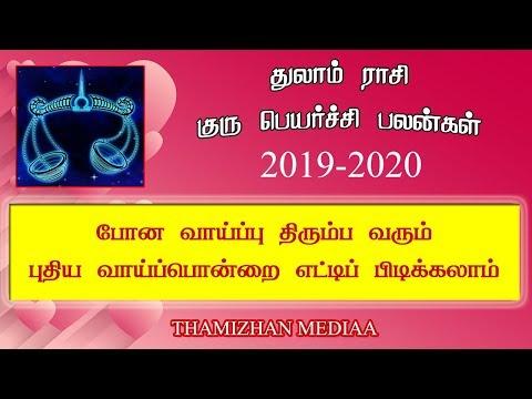 துலாம் ராசி  குரு பெயர்ச்சி பலன் 2019   Thulam rasi guru peyarchi  palan 2019