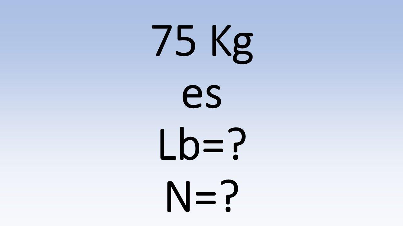 75 kilogramos convertir a libras
