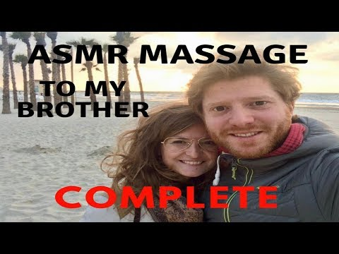 ASMR Complete Massage to my brother - back-neck-head