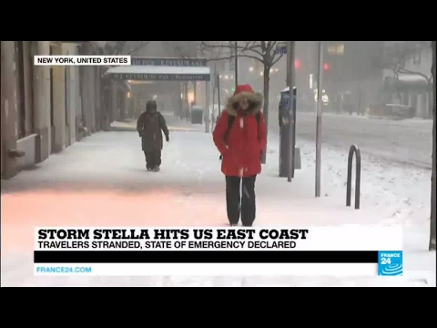 US - State of emergency declared as Storm Stella hits East Coast