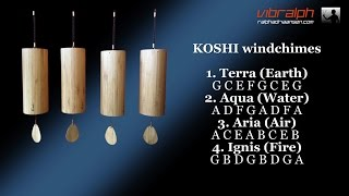 Koshi Windchimes (terra/aqua/aria/ignis)
