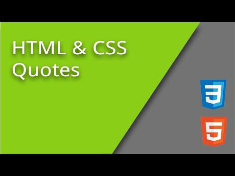 HTML & CSS Quotation Marks