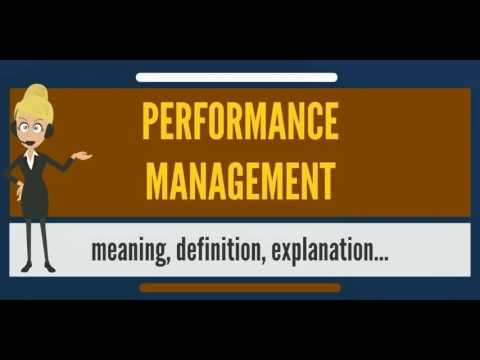 What is PERFORMANCE MANAGEMENT? What does PERFORMANCE MANAGEMENT mean?