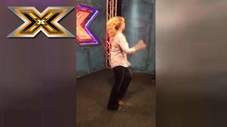 Оксана Марченко танцует за кулисами «Х-фактора»