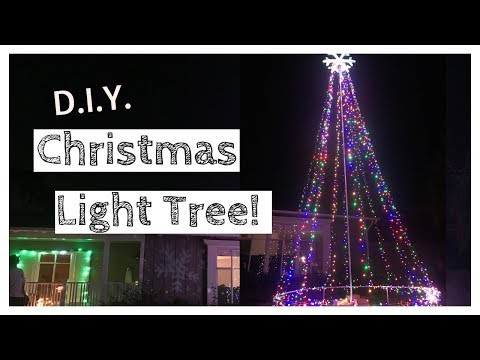 D.I.Y. Lighted Christmas Tree - Giant Outdoor Christmas Light Tree