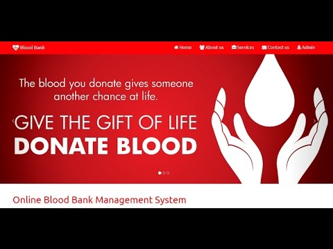 Online Blood Bank Management System In Php And MySql