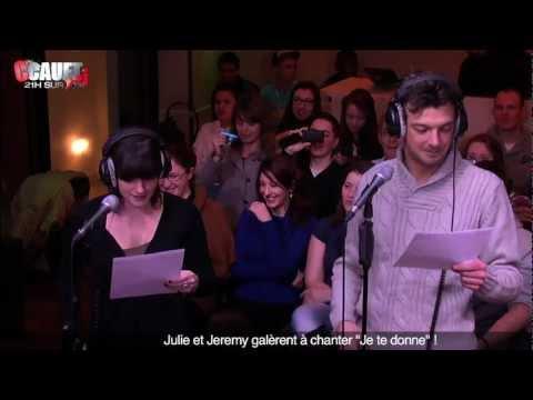 """Julie Et Jeremy Galèrent à Chanter """"Je Te Donne"""" !  - C'Cauet Sur NRJ"""