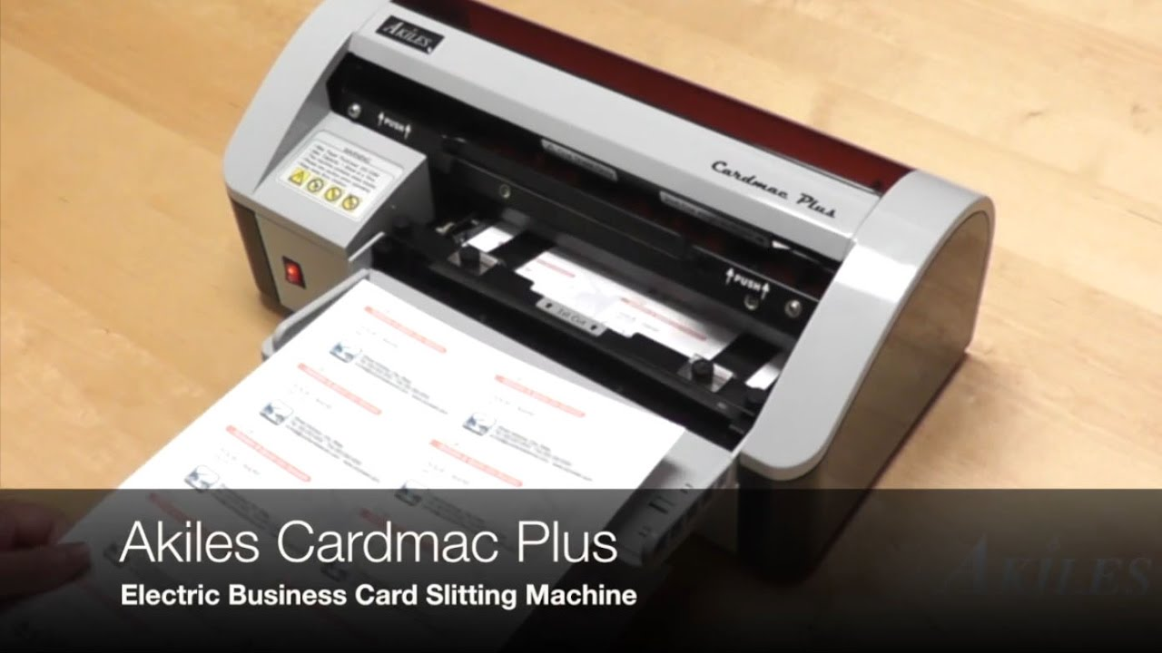 Akiles CardMac Plus Electric Business Card Cutter - YouTube