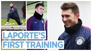 LAPORTE IN TRAINING & DE BRUYNE TRICK PENALTY | Training for West Brom