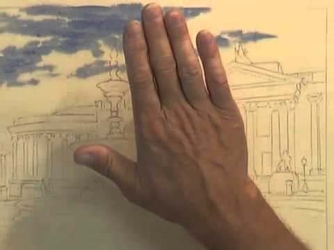 Painting Buildings in Watercolour - Elegant Buildings (Part 1)